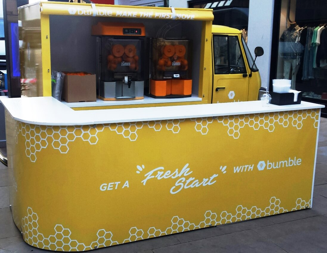Piaggio Orange Juice Pop-up